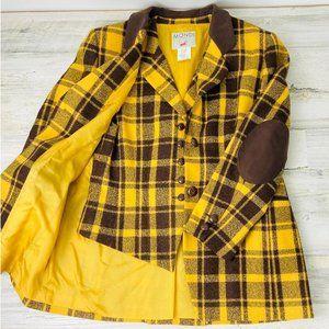 Mondi Vintage Plaid Patch Blazer Vest